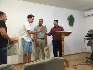 Afscheid in de kerk